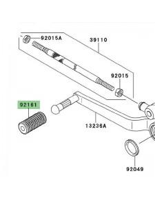 Caoutchouc sélecteur de vitesse Kawasaki Versys 650 (2010-2014) | Réf. 921611300