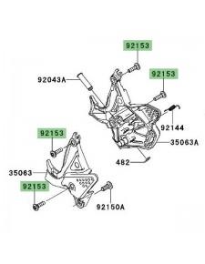 Vis de fixation platine repose-pieds Kawasaki Versys 650 (2010-2014) | Réf. 921531630