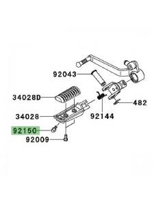 Téton de repose-pieds Kawasaki Versys 650 (2010-2014) | Réf. 921501114