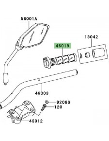 Poignée de gaz Kawasaki Versys 650 (2010-2014) | Moto Shop 35
