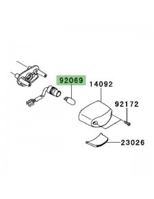 Ampoule éclairage de plaque Kawasaki Versys 650 (2010-2014) | Réf. 920691016