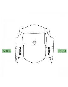 "Autocollant ""ABS"" garde-boue avant Kawasaki Versys 650 (2015-2021) | Moto Shop 35"