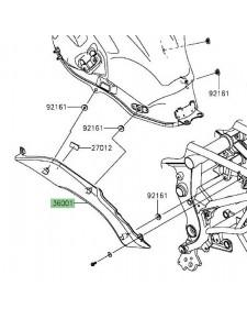 Cache latéral gauche sous réservoir Kawasaki Versys 650 (2015 et +)   Réf. 360010612