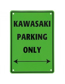 "Plaque ""Kawasaki Parking Only"" 