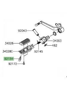 Téton repose-pieds Kawasaki Versys 650 (2015 et +) | Réf. 921540838