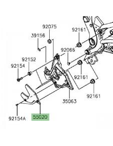 Protection platine repose-pieds avant gauche Kawasaki Versys 650 (2015 et +)   Réf. 550200978