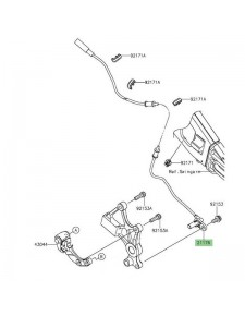 Câble ABS arrière Kawasaki Versys 650 (2015 et +)   Réf. 211760777