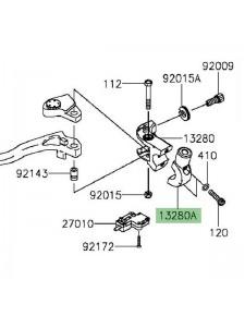 Support rétroviseur gauche Kawasaki Versys 650 (2015 et +)   Réf. 132800307