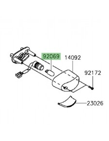 Ampoule éclairage de plaque Kawasaki Versys 650 (2015 et +)   Réf. 920691016