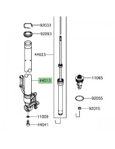 Tube de fourche gauche Kawasaki Z900 (2017 et +) | Réf. 440130292