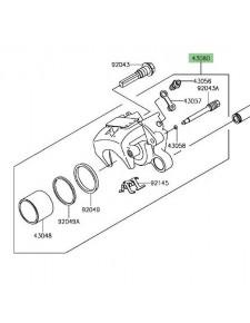 Étrier de frein arrière d'origine Kawasaki 430800156DJ | Moto Shop 35