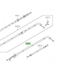 Câble ouverture des gaz Kawasaki Z650 (2017 et +)   Réf. 540120640