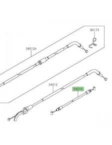 Câble fermeture de selle Kawasaki Z650 (2017 et +)   Réf. 540100612