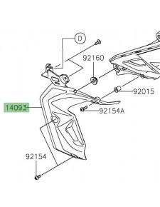 Écope de radiateur gauche Kawasaki Z650 (2017-2019) | Réf. 140930488