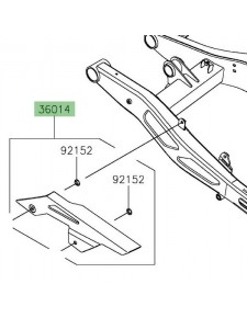 Protection de chaîne d'origine Kawasaki 360140044 | Moto Shop 35