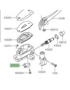 Contacteur de frein avant Kawasaki Z650 (2017 et +) | Réf. 270100762