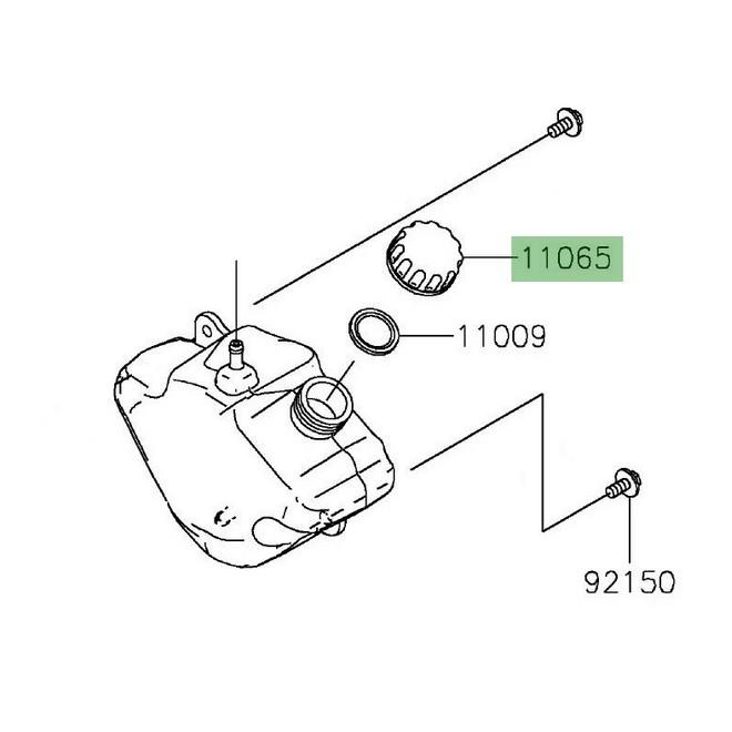 Bouchon de vase d'expansion Kawasaki Z650 (2017 et +) | Réf. 110650962