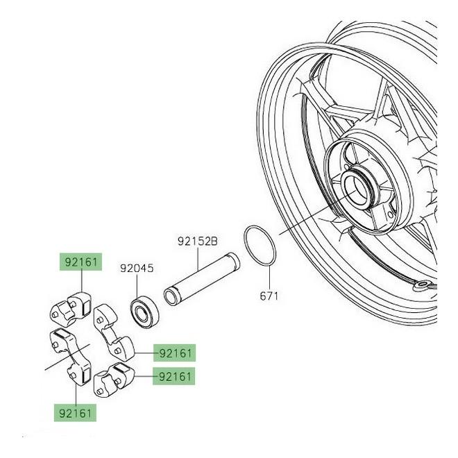 Amortisseur de couple Kawasaki Z650 (2017 et +) | Réf. 921610303