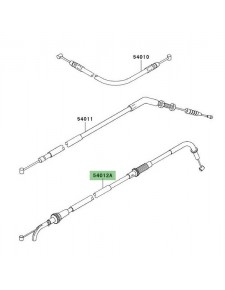 Câble d'ouverture des gaz Kawasaki Z1000 (2004-2006) | Réf. 540120118