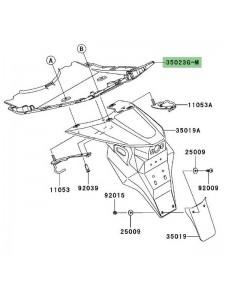 Passage de roue peint Kawasaki Z1000 (2003-2006) | Moto Shop 35
