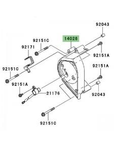 Carter pignon de sortie de boîte Kawasaki Z1000 (2003-2006) | Réf. 140261293