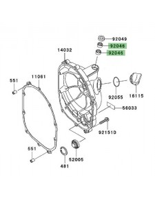 Roulement à aiguilles carter d'embrayage Kawasaki Z1000 (2003-2006) | Réf. 920460034