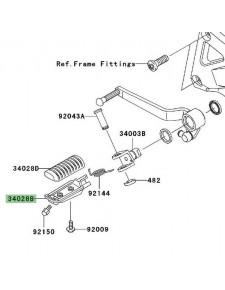 Repose-pieds avant gauche Kawasaki Z1000 (2003-2009) | Réf. 340281428