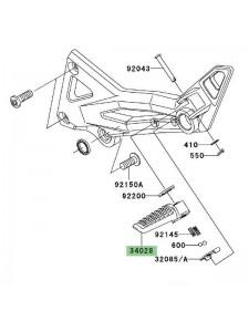 Repose-pieds arrière gauche Kawasaki Z1000 (2003-2006) | Réf. 340280004
