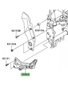 Platine repose-pieds gauche Kawasaki Z1000 (2003-2006) | Réf. 350631262458