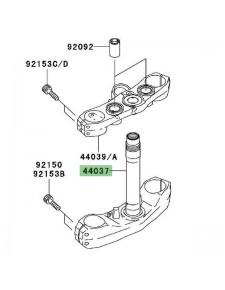 Té de fourche inférieur Kawasaki Z1000 (2003-2006) | Réf. 440371444