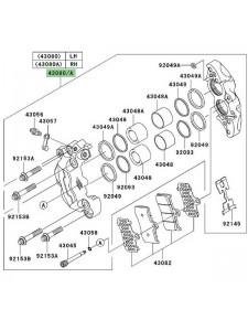 Étrier de frein avant Kawasaki Z1000 (2003-2006) | Moto Shop 35