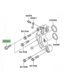 Vis fixation étrier de frein avant Kawasaki Z1000 (2003-2006) | Réf. 921531089