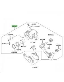 Étrier de frein arrière Kawasaki Z1000 (2003-2006) | Réf. 430805061483