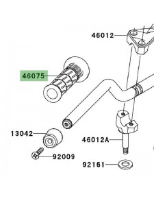 Poignée caoutchouc gauche Kawasaki Z1000 (2003-2009) | Réf. 460751144