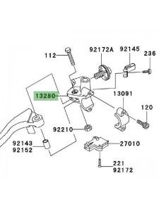 Support rétroviseur gauche Kawasaki Z1000 (2003-2009) | Réf. 132800017