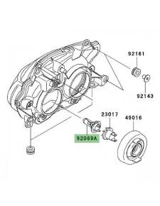 Ampoule H7 (12V/55W) optique avant Kawasaki Z1000 (2003-2006)   Réf. 920690053