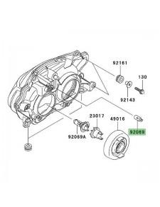 Ampoule (12V/5W) éclairage de plaque Kawasaki Z1000 (2003-2006) | Réf. 920691016