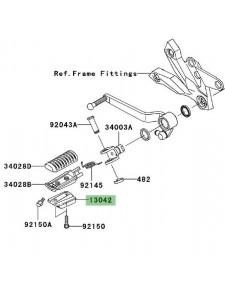 Masselotte repose-pieds Kawasaki Z1000 (2007-2009) | Réf. 130420022