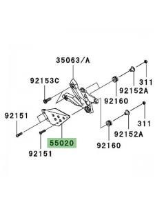 Protection de talon gauche Kawasaki Z1000 (2007-2009)   Réf. 550200237