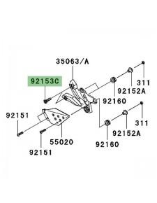 Vis fixation platine repose-pieds avant Kawasaki Z1000 (2007-2009) | Réf. 921531624
