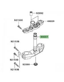 Té de fourche inférieur Kawasaki Z1000 (2007-2009) | Réf. 44037005811E
