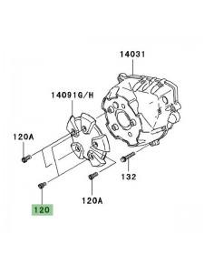 Vis M6x10 pour fixation de couvre carter d'alternateur Kawasaki Z1000 (2007-2009) | Réf. 120CC0610