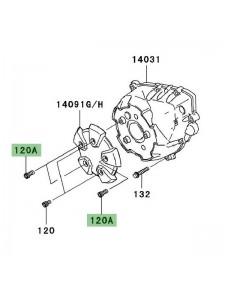 Vis M6x14 pour fixation de couvre carter d'alternateur Kawasaki Z1000 (2007-2009) | Réf. 120CC0614