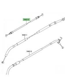 Câble de fermeture de selle Kawasaki Z1000 (2010-2013) | Réf. 540100117