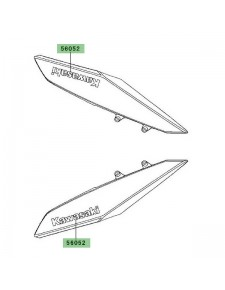 "Autocollant ""Kawasaki"" écope de radiateur centrale Kawasaki Z1000 (2010-2013) | Moto Shop 35"