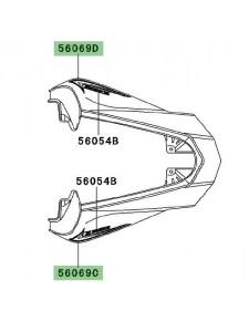 Autocollant décoratif coque arrière Kawasaki Z1000 Black Edition (2012) | Moto Shop 35