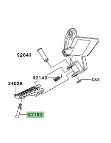 Téton de repose-pieds avant Kawasaki Z1000 (2010-2013) | Réf. 921531938