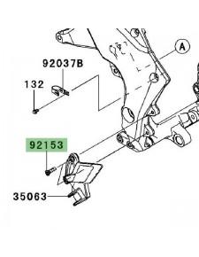 Vis M8x30 de fixation platine repose-pieds avant Kawasaki Z1000 (2010-2013) | Réf. 921531624