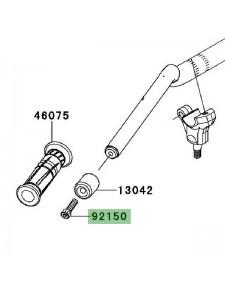 Vis fixation d'embout de guidon Kawasaki Z1000 (2010-2013) | Moto Shop 35