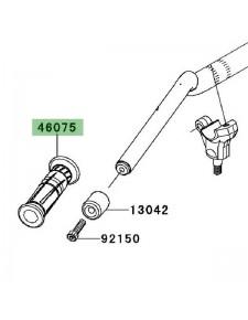 Poignée caoutchouc gauche Kawasaki Z1000 (2010-2013) | Réf. 460750068